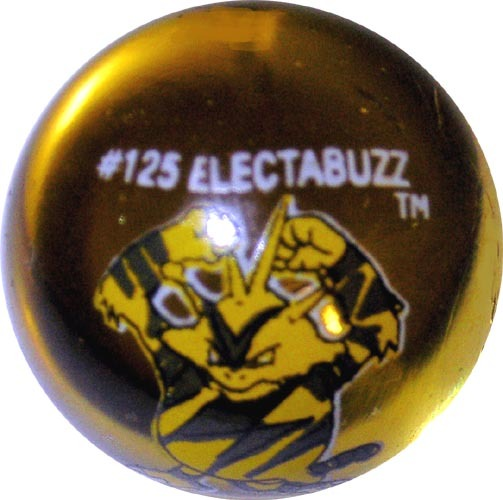 Electabuzz 125 Colored Glass Pokemon Marble Djs Pokemon