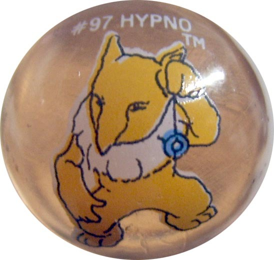 Hypno 97 Colored Glass Pokemon Marble Vintage Djs