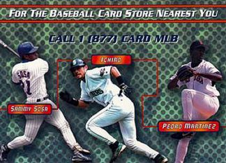 2002 MLB com Information Insert Card Jeter Pedro Ichiro Johnson Sosa Piazza