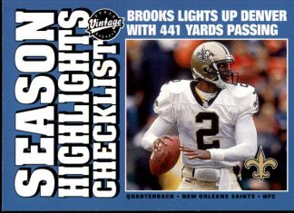 Aaron Brooks 2001 Upper Deck Vintage #185 Football Card
