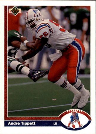 Andre Tippett 1991 Upper Deck #354 Football Card