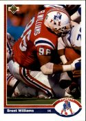 Brent Williams 1991 Upper-Deck #268 Football Card