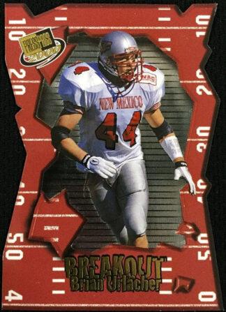 Brian Urlacher 2000 Press Pass Rookie Card #BO8 Die Cut