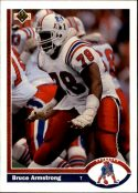 Bruce Armstrong 1991 Upper Deck #371 Football Card