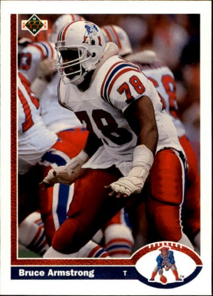 Bruce Armstrong 1991 Upper Deck #371 Football Card