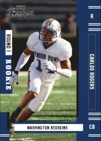 Carlos Rogers 2005 Playoff Prestige Rookie #237 Football Card