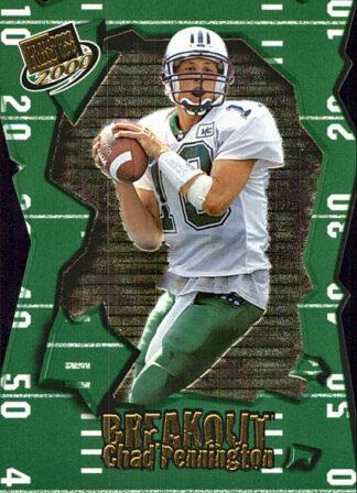 Chad Pennington 2000 Press Pass Rookie Card BO5 Die Cut Football Card