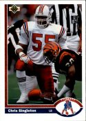 Chris Singleton 1991 Upper Deck #408 Football Card