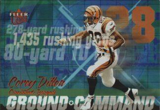 Corey Dillon 2001 Fleer Ultra Ground Command #9 Football Card