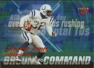 Edgerrin James 2001 Fleer Ultra Ground Command #2 Football Card