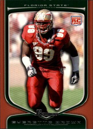 Evertte Brown 2009 Draft Picks Bowman RC Orange #153 Football Card