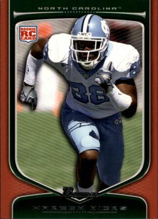 Hakeem Nicks 2009 Draft Picks Bowman RC Orange 210 Football Card