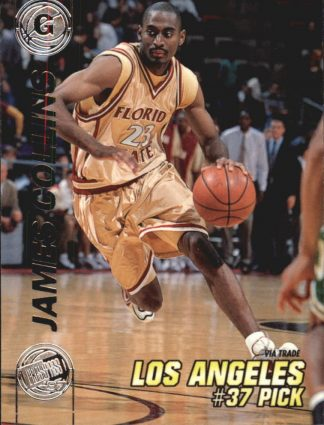 James Collins 1997 Press Pass Double Threat Silver #32 Basketball Card