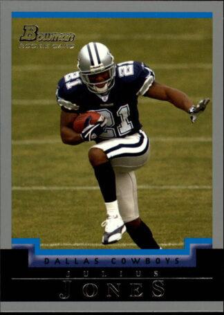 Julius Jones 2004-Topps Bowman Rookie Card #180