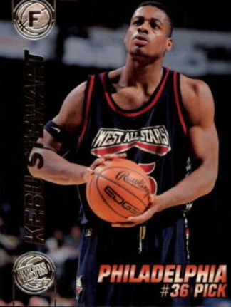 Kebu Stewart 1997 Press Pass Double Threat #31 Basketball Card