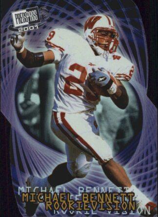 Michael Bennett 2001 Press Pass SE Rookievision Vikings Football Card #RV8