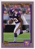 Michael Bennett 2001 Topps #384 Rookie Card
