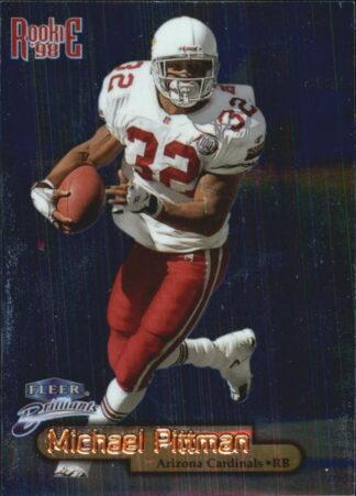 Michael Pittman 1998-Fleer Brilliants Rookie Card Blue #113B