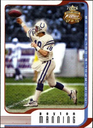 Peyton Manning 2002 Fleer Focus Jersey Edition #60 Football Card