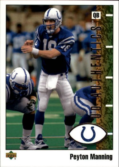 Peyton Manning 2002 UD Authentics #38 Football Card