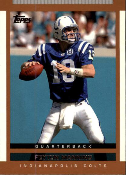 Peyton Manning 2003 Topps Scouting Report #10 Football Card