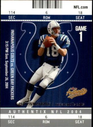Peyton Manning 2004 Fleer Authentix #54 Football Card