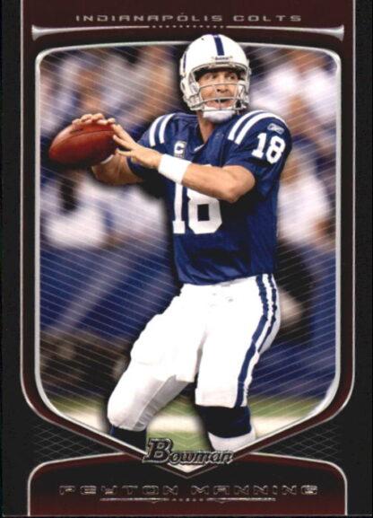 Peyton Manning 2009 Topps Bowman Draft #12 Football Card