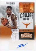 Prince Ibeh 2016 Panini Contenders College Ticket Autograph Basketball Card