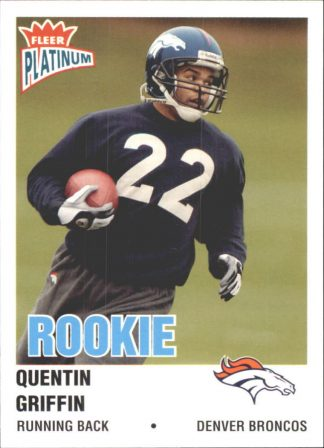 Quentin Griffin 2003 Fleer Platinum Rookie #237 Football Card
