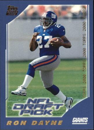 Ron Dayne 2000 Topps #379 NFL Draft Pick New York Giants Rookie Card