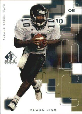 Shaun King 1999 SP Signature Rookie Football Card #179