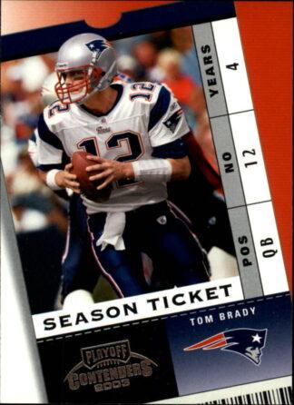 Tom Brady 2003 Playoff Contenders Season Ticket #22 Football Card