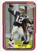 Tom Bradey 2004 Fleer Platinum #67 Football Cards
