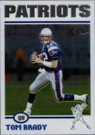 Tom Brady 2004 Topps Chrome #125 Football Card