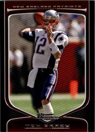 Tom Brady 2009 Bowman Draft #10 Football Card
