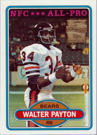 Walter Payton 2001 Topps COMMEMORATIVE COLLECTION Reprint #160