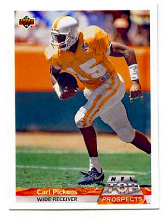 Carl Pickens 1992 UD Top Prospects #G2 Football Card
