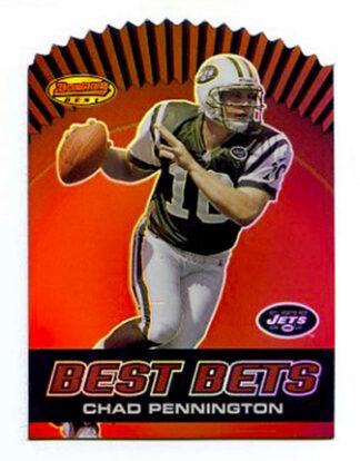 Chad Pennington 2000 Topps Bowmans Best Die Cut #B3 Football Card