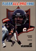 Jay Hilgenberg 1990 FLEER ALL-PRO #10 Football Card