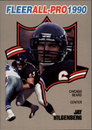 Jay Hilgenberg 1990 FLEER ALL-PRO #10 Football Card