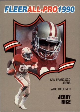 Jerry Rice 1990 FLEER ALL-PRO #2 Football Card