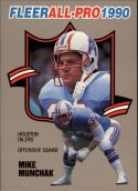 Mike Munchak 1990 FLEER ALL PRO #9 Football Card