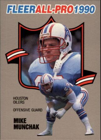 Mike Munchak 1990 FLEER ALL PRO #9 Football Card