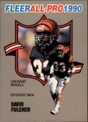 DAVID FULCHER 1990 FLEER ALL-PRO #18 Football Card