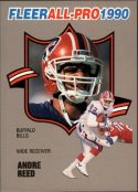 Andre Reed 1990 FLEER ALL PRO #24 Football Card
