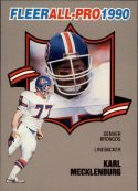 Karl Mecklenburg 1990 FLEER ALL-PRO #15 Football Card