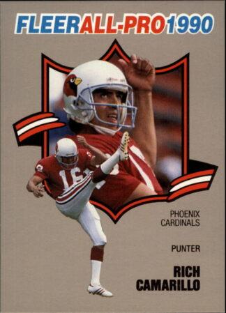 Rich Camarillo 1990 FLEER ALL-PRO #22 Football Card