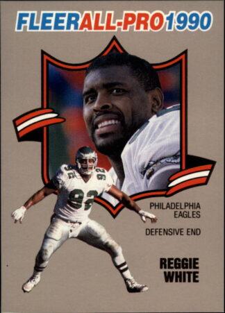 Reggie White 1990 FLEER ALL-PRO #16 Football Card