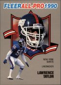 LAWRENCE TAYLOR 1990 FLEER ALL-PRO #14 Football Card