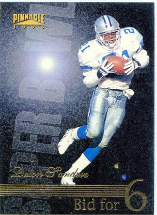 Deion Sanders 1996 Pinnacle Super Bowl Bid for 6 #186